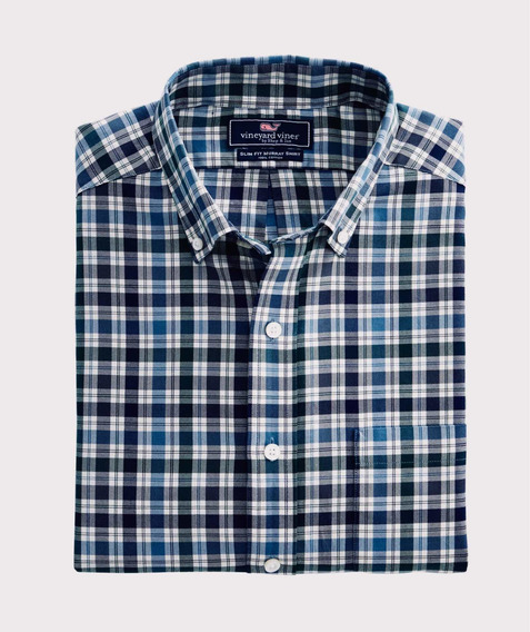 Camisa Vineyard Vines Maple Street Plaid Slim Murray Shirt