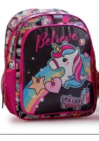 Mochila Escolar Unicornio Back Up Fun Espalda 17 Pulgadas