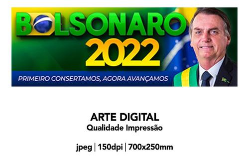 Imagem 1 de 1 de Arte Digital Adesivo Bolsonaro 2022