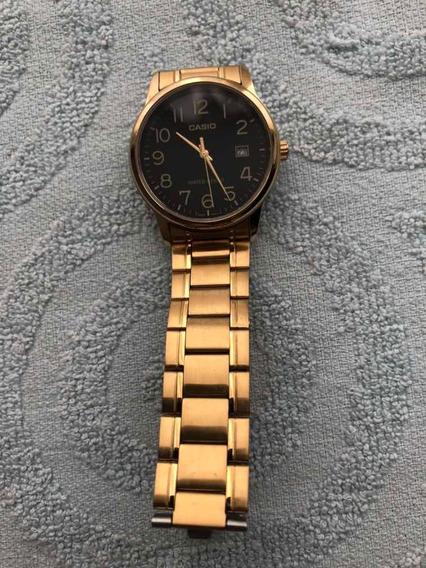 Relógio Casio Masculino Dourado Ltp- Original