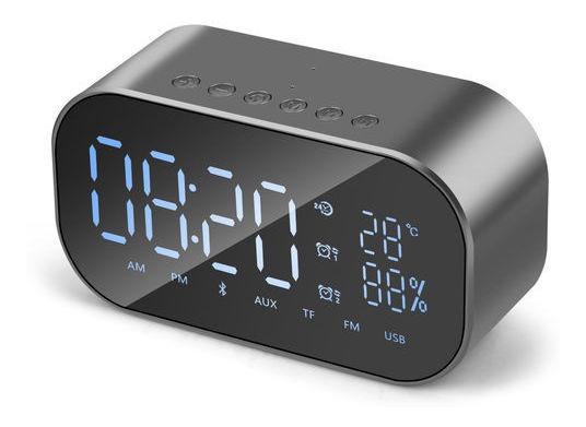 Rádio Relógio Digital Hoopson Fm, Sd, Bluetooth, Viva Voz