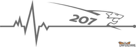 Calco Peugeot 207 En Mi Sangre 20 X 7 Cm - Graficastuning