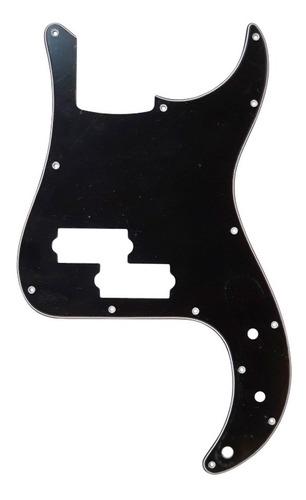 Imagen 1 de 1 de Pickguard Sambong M17 Negro Tipo Precision Bass 3 Capas