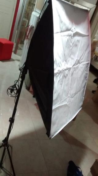 Softbox 50x70 Cm Soquete De Lâmpada E Tripe E27