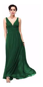 Vestidos Fiesta Verde Talla 14 16 Modelo Ep 07