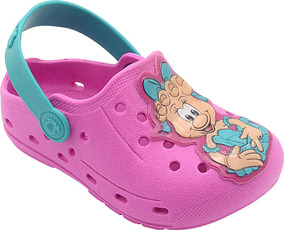 Babuche Infantil Menina Mascote Pink Pé Com Pé