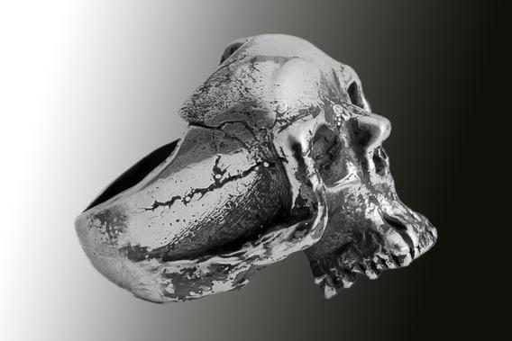 Joia Anel De Caveira Skull 4 Closs Numerado Prata 950