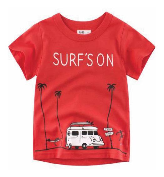 Playera Para Niño Surf