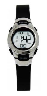 Reloj Eurotime Digital Dama Alarma Luz Sumergible
