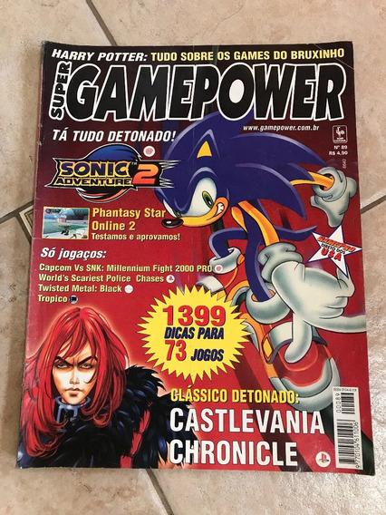 Revista Super Gamepower 89 Sonic Castlevania Chronicle F800