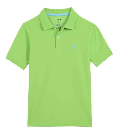 Playera Polo Color Verde Claro Chaps