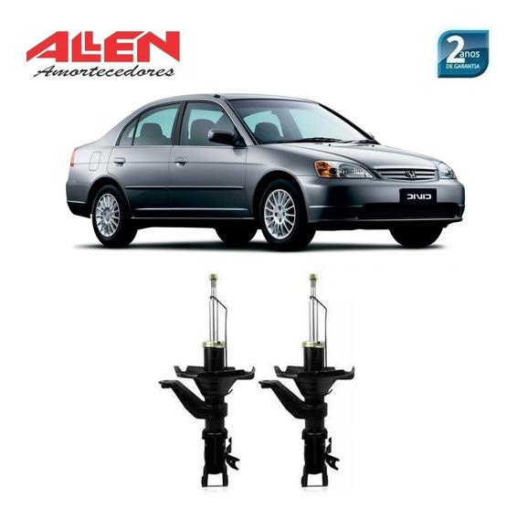 02 Amortecedores Dianteiros Honda Civic 2004 2005 Par