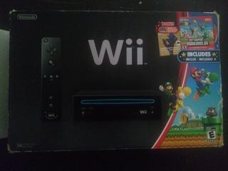 Nintendo Wii Negro Con Disco Pro Evolución Soccer 2011