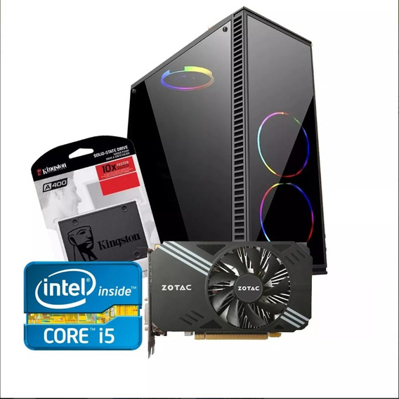 Pc Gamer Intel/ Core I5/ 8gb/ 1tb Ou Ssd 240/gtx 1050ti 4gb