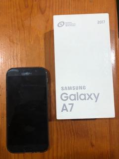 Celular Samsung A7 2017 Negro