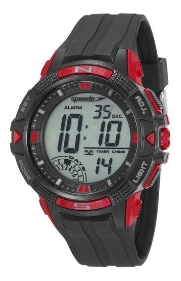 Relógio Speedo 11003g0evnp1 Pulso Digital Preto E Vermelho