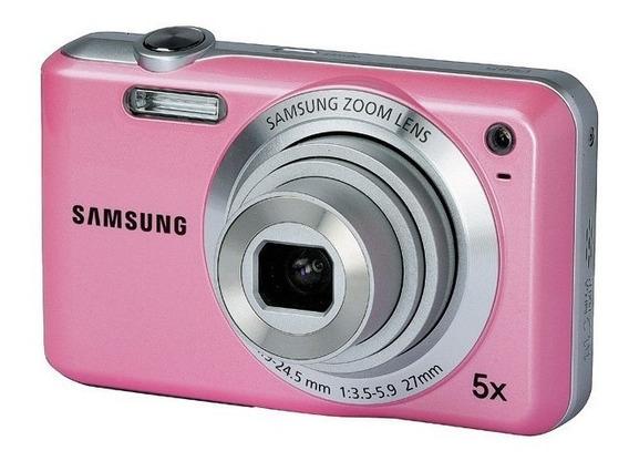 Câmera Digital Samsung Es65 10.2 Mp 5x Zoom 27mm Cor Rosa