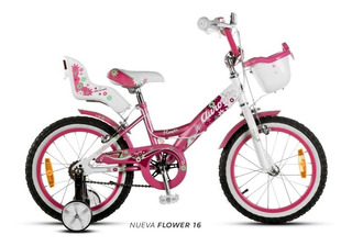 Bicicleta Aurorita Flowers 16 Aurora 5 A 7 Años Pura Bike