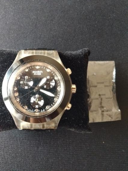 Relógio Feminino Swacth Irony Diaphane Preto
