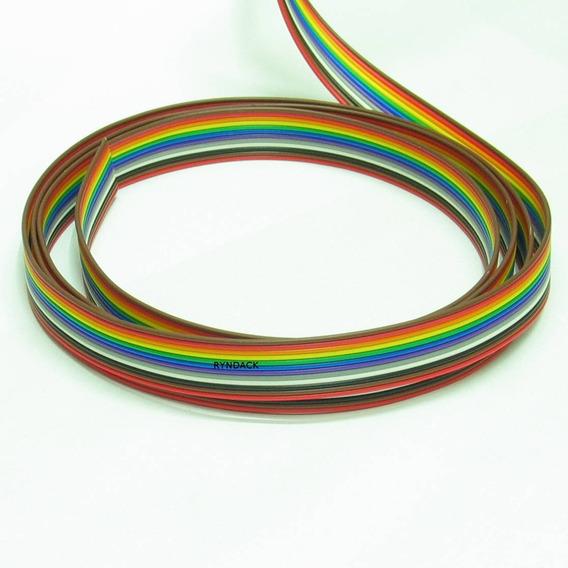 3 Metros * Flat Cable 12 Vias Colorido Passo 1,27mm 26awg