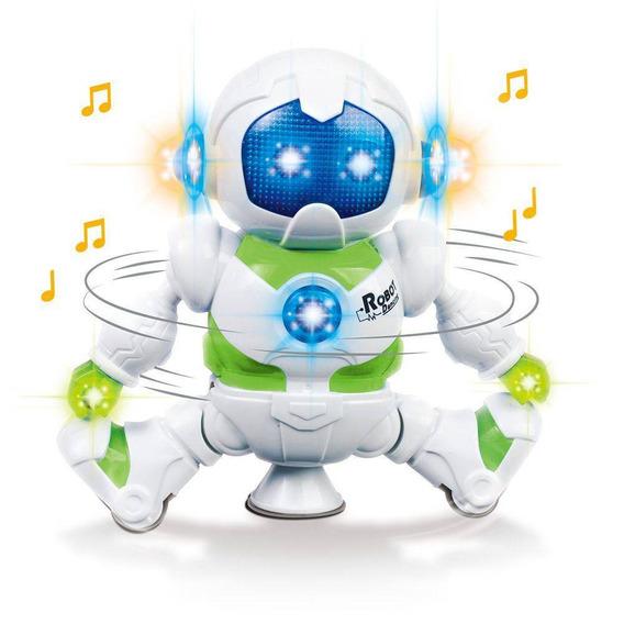 Robô Lunar Boneco A Pilha Gira E Toca Música