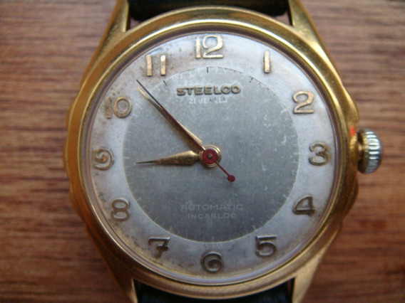 Reloj Steelco Art Deco Automatico Suizo Original.
