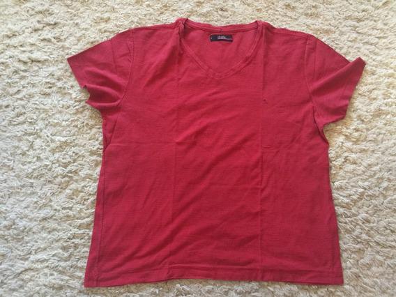 Camiseta Aramis Original Vermelha Gola V Tamanho M Impecável