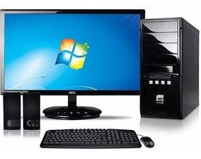 Computador Com Cpu E Desktop Simples Semi Novo + Etiquetas
