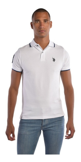 Polo Custom Fit U.s. Polo Multicolor Uslpm447481 Hombre