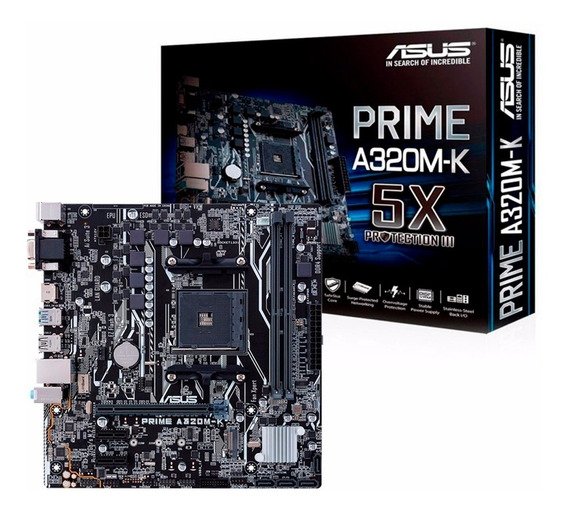 Motherboard Asus Prime A320m-k Am4 Ddr4 Usb 3.0 Hdmi