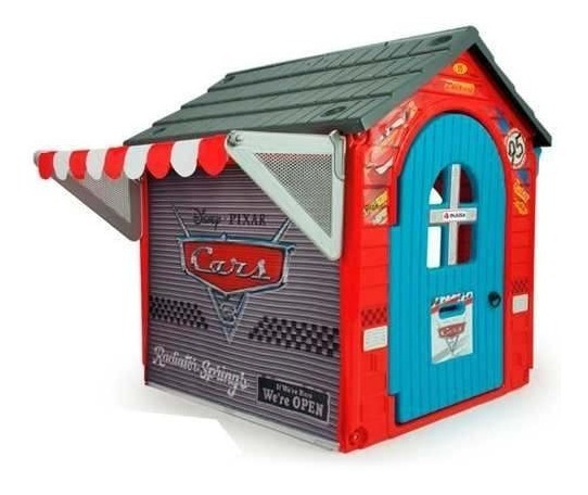 Casita Jardin Infantil Garage Cars Juegos Patio Injusa