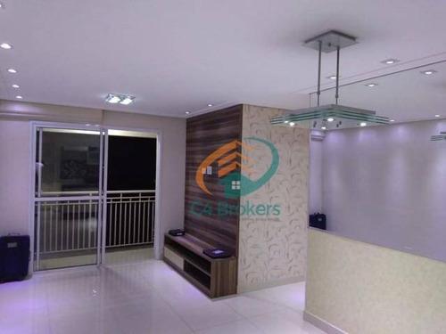 Apartamento Com 3 Dormitórios À Venda, 68 M² Por R$ 405.000,00 - Ponte Grande - Guarulhos/sp - Ap3739