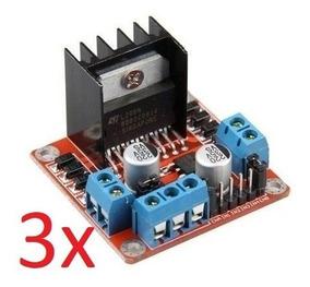 3 X Driver Motor Ponte H L298n Para Arduino