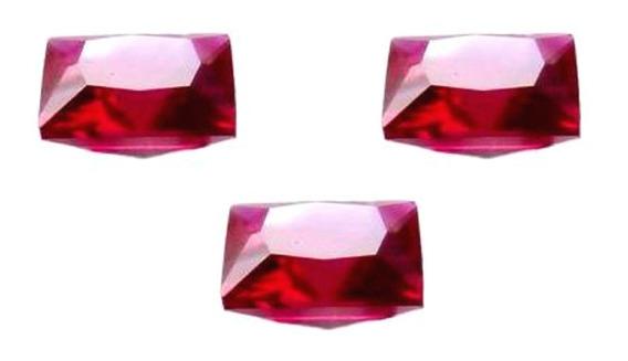 Rubi Pedra Preciosa Preço Das 3 Gemas 10x10 Mm Quadrada 3156