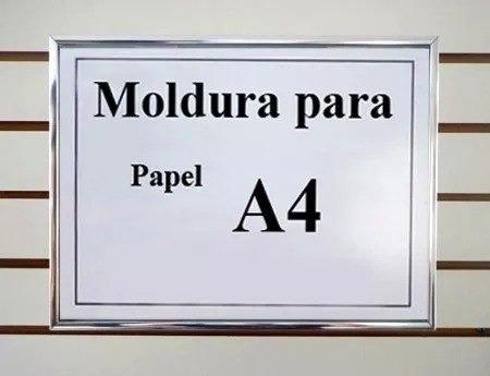 Imagem 1 de 2 de Kit Com 8 Moldura A4 De Alumínio Para Diploma E Certificados