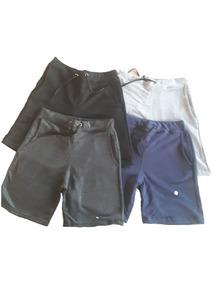 Bermuda Moletom Moleton Kit Com 5 Bermudas Academia Shorts