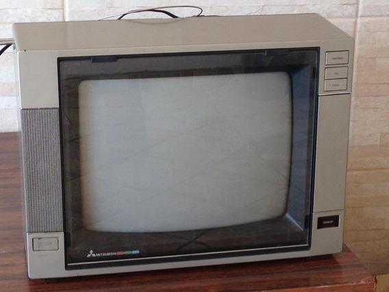 Tv Mitsubishi 14 Polegadas, Com Controle Remoto.