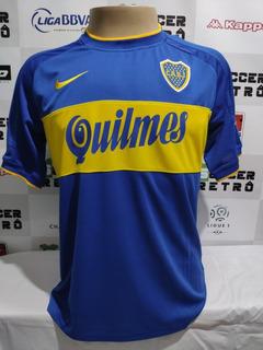 Camisa Boca Juniors 2000 Libertadores Riquelme 10 À P/ Ent