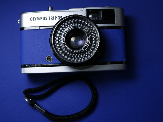Câmera Fotográfica Olympus Trip 35 - Revisada (azul)