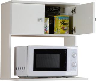 Mueble Porta Microondas Melamina Organizador De Cocina De Colgar + Envio Sin Cargo Capital Federal !