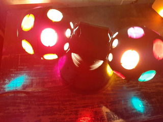Efecto Central Dj Boliches Doble Bola Tachos Led Cab Moviles