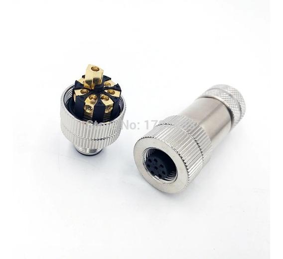 Kit Conectores M12 8 Vias