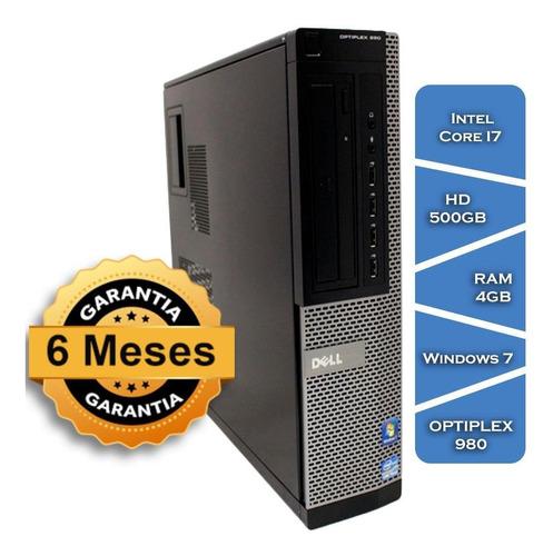 Imagem 1 de 5 de Pc Dell Optiplex 980 Core I7 870º Hd500 4gb Ram Win 7 Slim