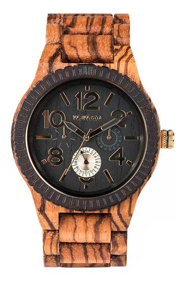 Relógio De Madeira Wewood - Kardo Zebrano - Wwkr06