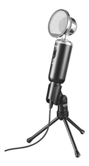 Microfono Trust Madell De Escritorio Tripode Vintage 3,5mm