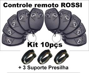 Controle Remoto Rossi 433 Mhz Hcs Kit 10pçs + 3 Presilhas