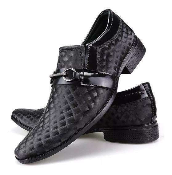 Par De Sapatos Social Masculino Leve Verniz - Leia Descrição