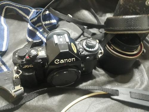 Máquina  Fotográfica Canon Antiga + Acessórios