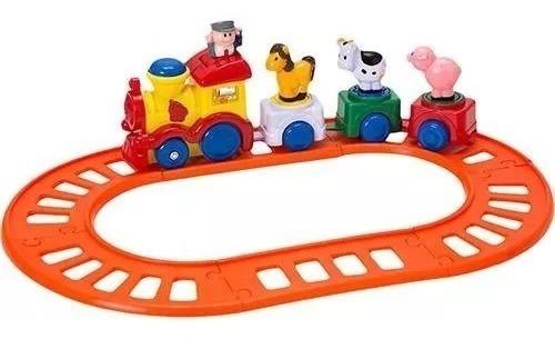 Brinquedo De Bebê Pista Trenzinho Fazendinha First Step