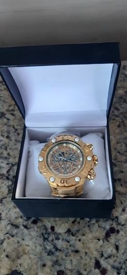 Relógio Invicta Banhado A Ouro